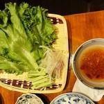 マッチョイ - パインセオの野菜と甘酸っぱいタレ