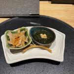 うなぎ四代目菊川 - 季節の前菜三種盛り