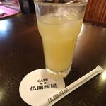 仏蘭西屋 - セットのグレープフルーツジュース