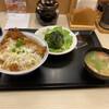 かつや - 料理写真:カツ丼 豚汁サラダのセット つゆだくは最後まで美味しかった