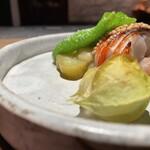 156466551 - 地物金目鯛焼き、フルーツほおずき、焼き茄子