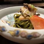 156466865 - 半田素麺と蒸し鮑に肝ソース