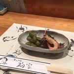 寿司処 福家 - 海老と貝と枝豆