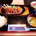 丑舎格之進 - ロースステーキ定食150g