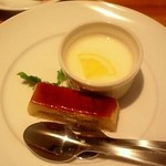 15648729 - ランチのデザート(林檎のシブーストと牛乳プリン)
