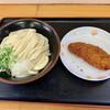 やなぎ屋 - 料理写真:醤油うどん ¥320- ささみかつ ¥120-