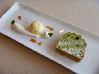 ル カフェ ドゥ ポム - 小松菜のケーキ