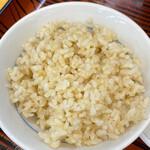 ぎょうざの満洲 - 小ライス(玄米)