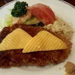 西洋料理店 エスコフィエ - 奈川産もち豚のカツレツミラノ風(2,310円)