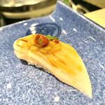 たつみ寿司 - ⑦カンパチのもろみ乗せ