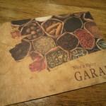 GARAM - お店の案内カード