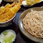 十割そば会 - 料理写真:海老天丼 蕎麦セット@900円!
