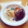 小馬 - 料理写真:ドミホふんわりオムライス、チーズ、ハンバーグ乗せ 1220円