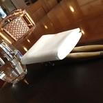 ヴィーニ デル ボッテゴン - フェッラレッレのロゴが入ったグラスでした