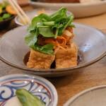 ブラウンライス - この日の主菜は小絹揚げの南蛮漬け。
