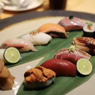 お昼のおまかせコース¥5,000(税込)