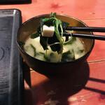 むちゃく - 味噌汁の具材