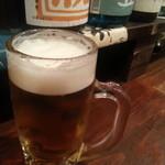 アキバの酒場 - 日本酒ズキにはタマラナイ感じですが、ワテはビール(∀`*ゞ)エヘヘ