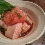 アキバの酒場 - 秋鮭の白子ポン酢タマラン゚+.(◕ฺ ω◕ฺ )゚+.