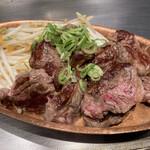 鉄板焼き 寿々の助 - 牛ヒレサイコロステーキ定食 150g 1490円税別、以下外税表記