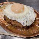 鉄板焼き 寿々の助 - ハンバーグステーキ定食1190円+目玉焼きトッピング100円
