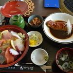 15659859 - おかりば丼+金目鯛の味噌煮付