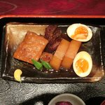 15662366 - 二日煮込んだ、豚の角煮定食 850円 の豚の角煮