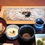 15662438 - 麺道楽(ミニかつ丼とざるそばの組み合わせ)