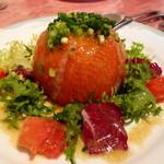 ビストロシェフの一歩 - 山芋・胡瓜とネギトロのスモークサーモン包み ビジュアル的にスゴイ!