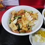 中国料理 江陽 - 「中華丼・冷やし中華ミニセット」中華丼