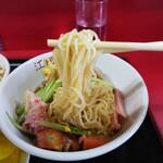 中国料理 江陽 - 「中華丼・冷やし中華ミニセット」冷やし中華 麺アップ
