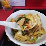 中国料理 江陽 - 「中華丼・冷やし中華ミニセット」中華丼アップ