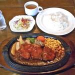 ポンパドール - 料理写真:ポークソテー & ライス&スープ&コーヒー