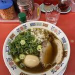 もっこす - 料理写真:魚介ソバ!山椒が良く合う!確かにタマネギがアクセント!良き!!
