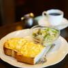 カフェ・ラパン - 料理写真:モーニング・セット タマゴトースト+サラダ (¥650)