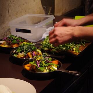 野菜の個性をシンプルに引き出します
