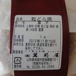 萬菊屋 - 粒どら焼きの原材料