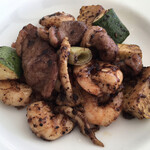 天啓 - Aランチ:小海老と鴨ロースの豆豉炒め