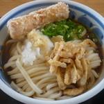 15668761 - ぶっかけうどん(大)温だし、ミニちくわ天ぷら