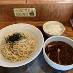 三都屋 - 料理写真:半肉つけ麺と無料半ライス