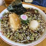 ふくろう - 昔ながらの鶏ガラ中華そば750円・味玉100円