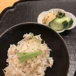 いしづか - ランチ青龍12500円。強肴と一緒に出てきたのは初、御飯のおかわりを聞かないのも初。。。