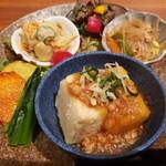 玄三庵  - 揚げ出し豆腐とデリ3種