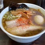太麺屋 - 料理写真:小盛り太麺あぶらっぽく650円+煮玉子100円
