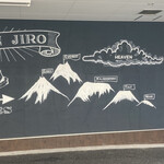 アルペンジロー - 辛さの山の壁画がお店の外壁に描かれている
