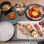 食堂 勿ノ怪 - ラム串と焼鳥の定食