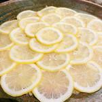 156747300 - レモンまくりのスーパーネギ塩タン