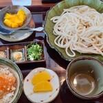 うどん つる吉 - 料理写真:ざるうどん&えび天ミニ丼