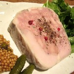 15677756 - テリーヌおたくが作った!もち豚と大山鶏のパテ 青森産熟成黒にんにく添え