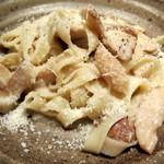15677771 - 平打ちパスタで和えたポルチーニ茸のパルメザンチーズ風味